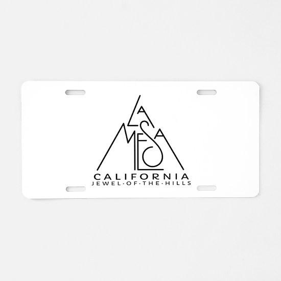 La Mesa CA Jewel of the Hil Aluminum License Plate