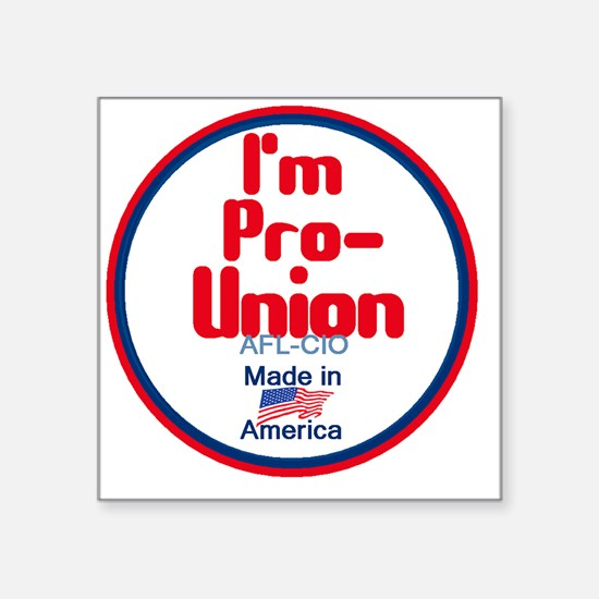 "Pro Union Square Sticker 3"" x 3"""