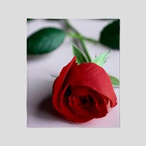 Red_Rose Throw Blanket