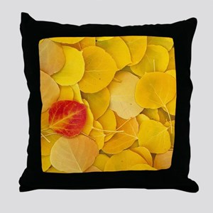 Aspen_leaves Throw Pillow