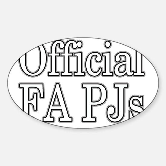 fapj_edited-1 Sticker (Oval)