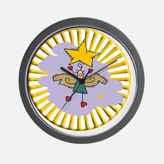 Christmas Angel Ornament 10 Wall Clock