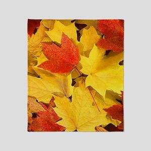 Autumn_leaves Throw Blanket