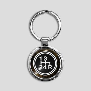 240Shift-Knob Round Keychain