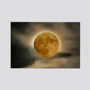 large framed moon Rectangle Magnet