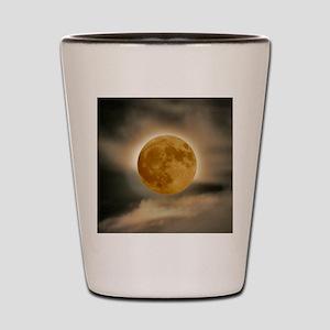 framed panel moon Shot Glass