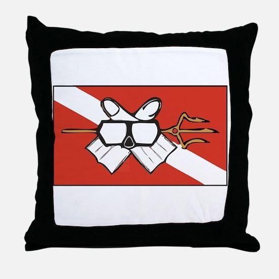 OceansShirtDark Throw Pillow