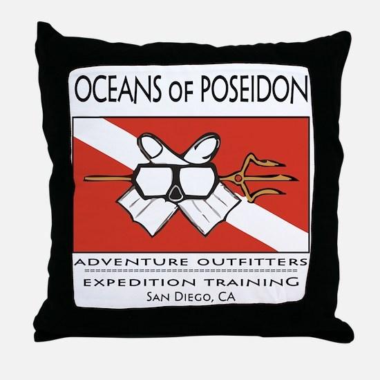 OceansShirt Throw Pillow