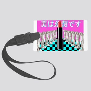 The Illusion of Beauty Large Luggage Tag