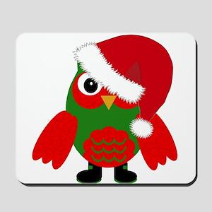 Santa Owl Mousepad