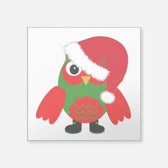 Santa Owl Sticker