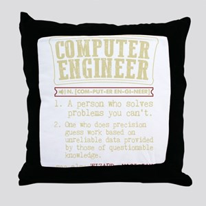 Computer Engineer Funny Dictionary Te Throw Pillow