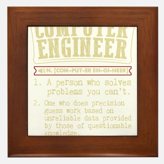 Computer Engineer Funny Dictionary Ter Framed Tile