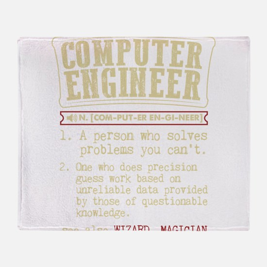 Computer Engineer Funny Dictionary T Throw Blanket