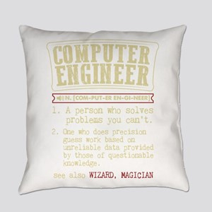 Computer Engineer Funny Dictionary Everyday Pillow