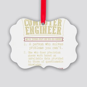 Computer Engineer Funny Dictionar Picture Ornament