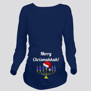 Merry Chrismukkah Me Long Sleeve Maternity T-Shirt