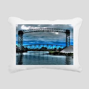 railroad trestle bridge Rectangular Canvas Pillow
