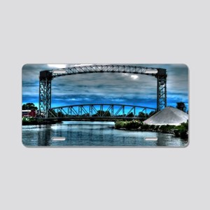 railroad trestle bridge Aluminum License Plate