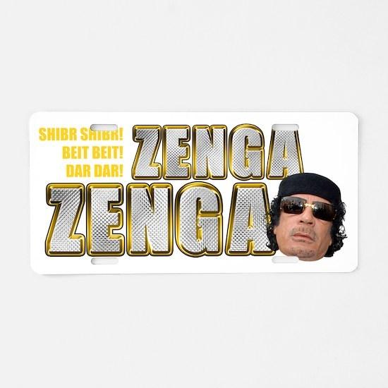 zenga2 dark Aluminum License Plate