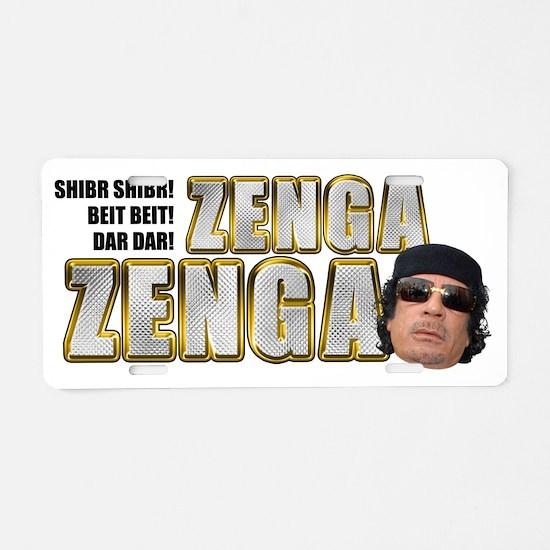 zenga2 light Aluminum License Plate