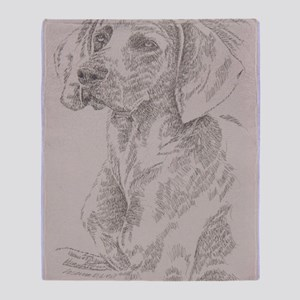 Weimaraner_KlineSq Throw Blanket