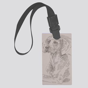Weimaraner_Kline Large Luggage Tag