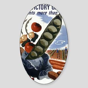 victory garden 2 Sticker (Oval)