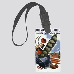 victory garden 2 Large Luggage Tag