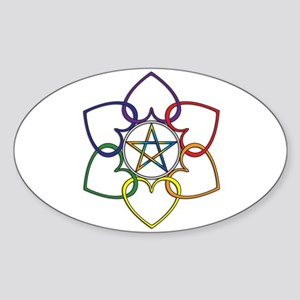 Poly Pagan and Proud Oval Sticker