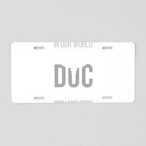 Combat Medic Aluminum License Plate