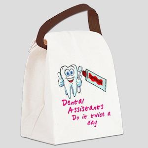 DentalAssistantsDark Canvas Lunch Bag