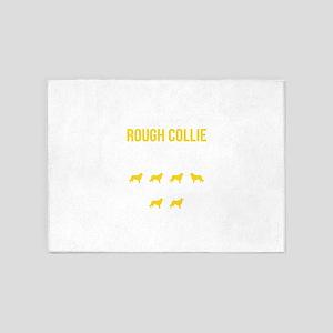 Collie Stubborn Tricks 5'x7'Area Rug