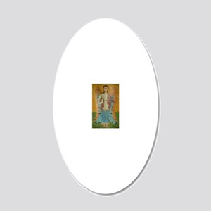 Saint Michael 20x12 Oval Wall Decal
