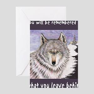 rememberedPRNT Greeting Card