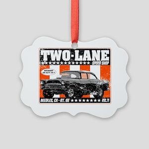 Two-Lane-Distress Picture Ornament