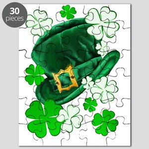 Irish Hat and ShamrocksTrans Puzzle