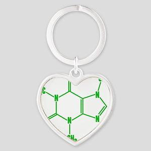 caffeine_gn_10x10 Heart Keychain