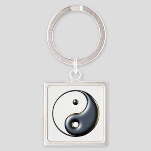 ying yang  Square Keychain