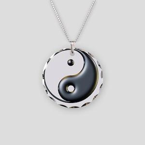ying yang  Necklace Circle Charm