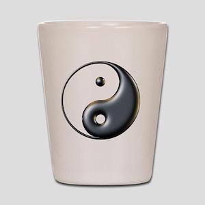 ying yang  Shot Glass