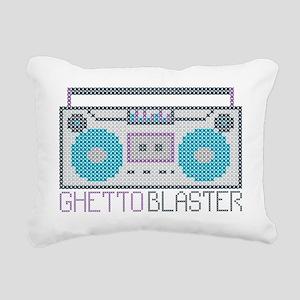 ghettoBlaster Rectangular Canvas Pillow