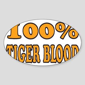 tigerbloodwhite Sticker (Oval)