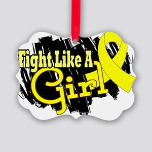 Fight Like A Girl Endometriosis 1 Picture Ornament