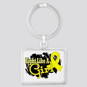 Fight Like A Girl Endometriosis Landscape Keychain
