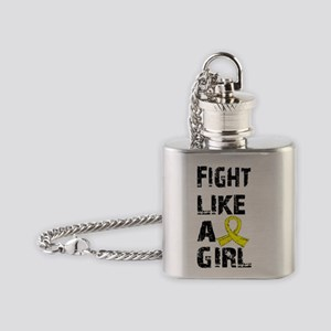 D Fight Like A Girl Endometriosis 2 Flask Necklace