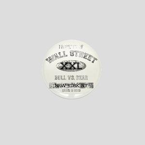 property of wall street dark Mini Button
