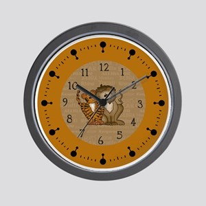 lions and tigers  Wall Clock