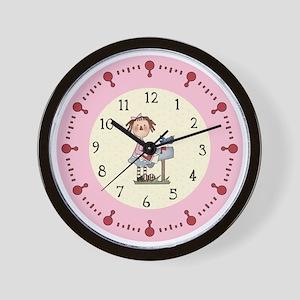 rag doll and bluebird Wall Clock