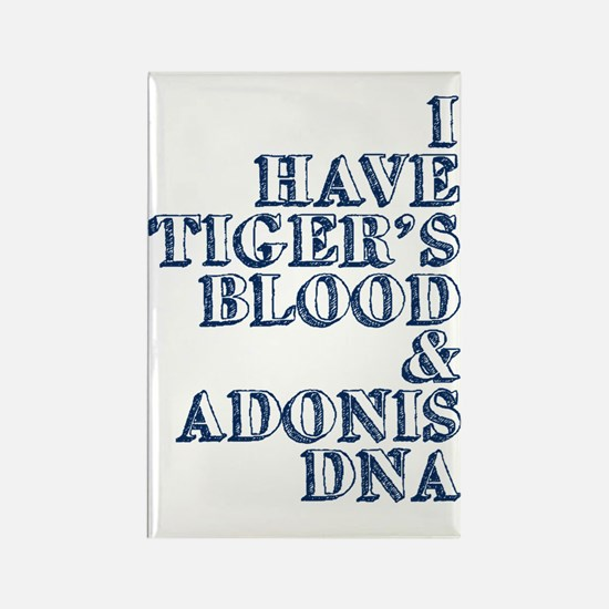 tigers blood adonis dna Rectangle Magnet